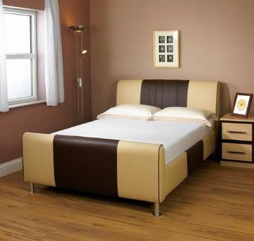 Cappuccino Two Tone Single Bedframe (3Ft)